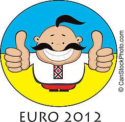 Ukrainian fan. Euro 2012 design