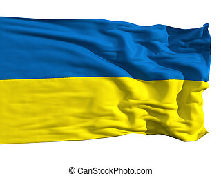 Ukrainian flag, fluttering in the wind