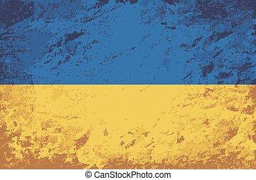 Ukrainian flag. Grunge background.