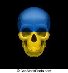Ukrainian flag skull