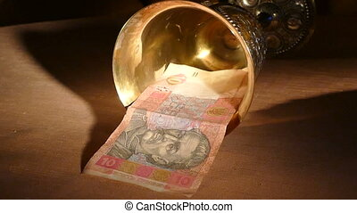 Ukrainian hryvnia dropped out of the golden cup