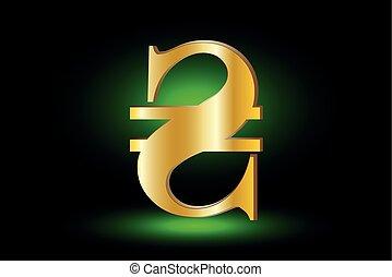 Ukrainian Hryvnia sign icon, hryvnia currency symbol,