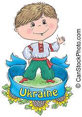 Ukrainian Kozak. Contains transparent objects.EPS 10.