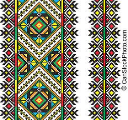 ukrainian, nacional, ornamento