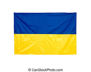 Ukrainian national flag isolated on white background