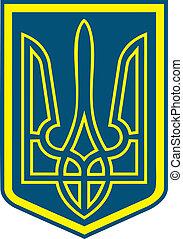 Ukrainian national symbol - trident, symbolizes preying...