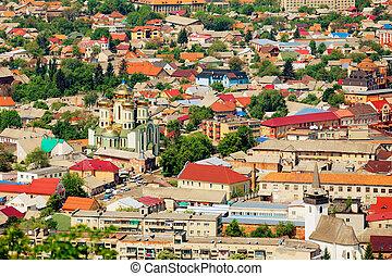 Ukrainian town with the church