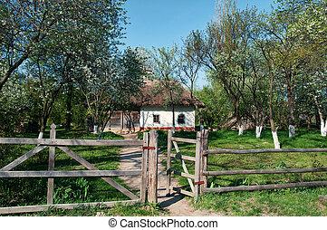 Ukrainian village in the spring