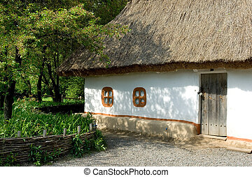 Traditional Ukrainian countryside house in the village