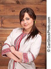 Ukrainian woman in traditional costume