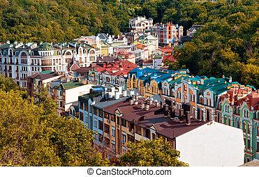 ukrajna, ősz, -, kyiv, főváros