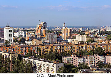 ukrajna, kedves, kilátás, kyiv, főváros