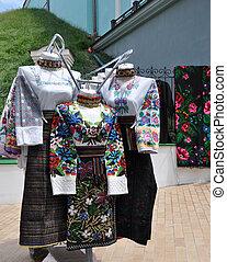 ukranian folk clothing in exhibition