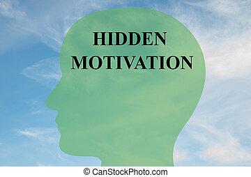 ukryty, motywacja, pojęcie