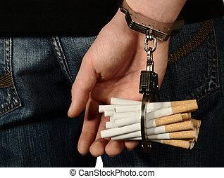 ukryty, papieros, nałóg