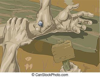 ukrzyżowanie, ilustracja