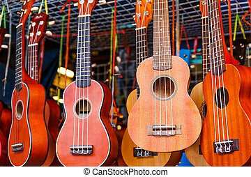 Ukulele guitar for sell in the market