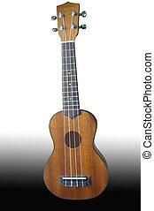 Ukulele guitar on background