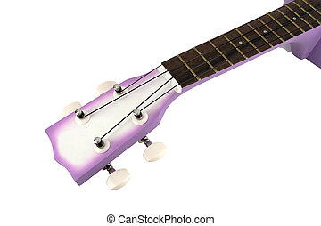 Ukulele guitar on white background