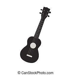 Ukulele Illustration - Illustration of a ukulele isolated on...