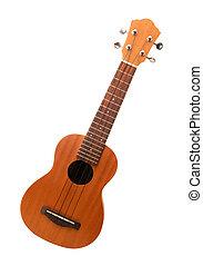 ukulele isolated in white background
