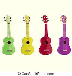 ukulele-vector, イラスト