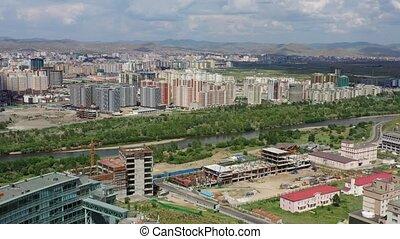 ulaanbaatar, luchtopnames, mongolië, aanzicht
