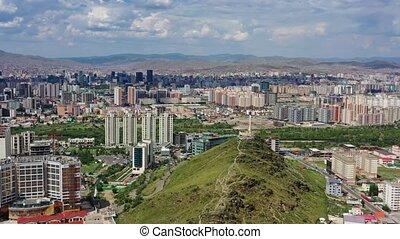 ulaanbaatar, mongolië, luchtmening