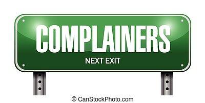 ulica, complainers, znak