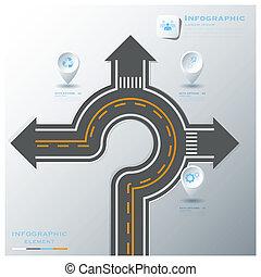 ulica, handlowy, &, znak, infographic, handel, szablon, projektować, droga