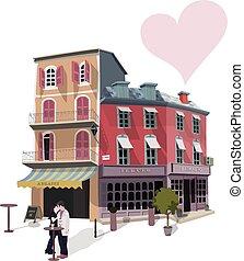 ulica, kawiarnia