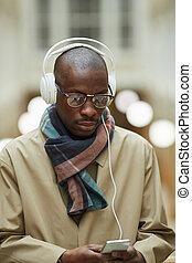 ulica, rówieśnik, afrykański człowiek