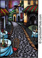 ulica, restauracja