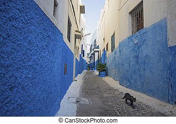 ulica, szczegół, afrykanin, architektura