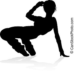 ulica, taniec, tancerz, sylwetka