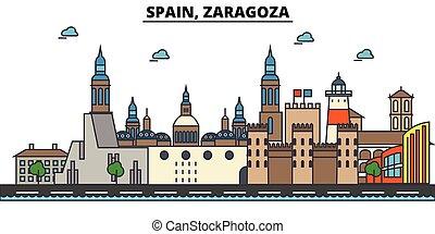 ulice, komplet, panorama, zabudowanie, architektura,...