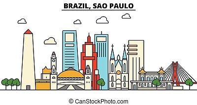 ulice, komplet, sao, panorama, zabudowanie, architektura,...
