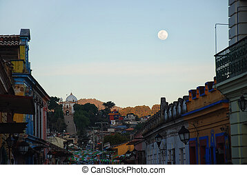 ulice, od, san cristobal de las casas, meksyk