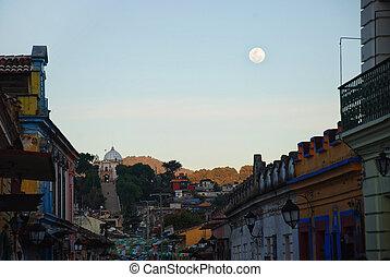 ulice, san, meksyk, od, cristobal, casas, las