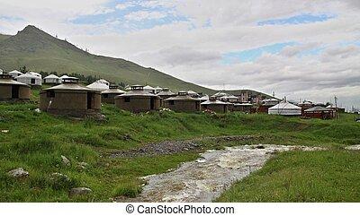 ullanbaator, yurts, キャンプ, mongolian, mongolia