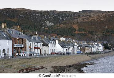 waterside promenade in Ullapool in Scotland