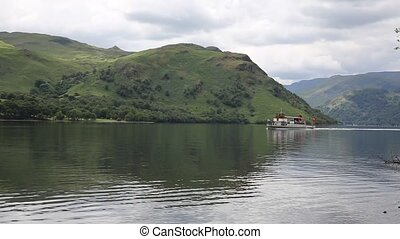 Ullswater steam ferry Lake District