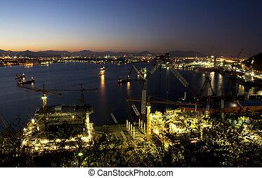 Ulsan shipyard in south korea Industrial Complex