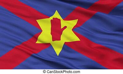 Ulster Nationalism Flag Closeup Seamless Loop - Ulster...