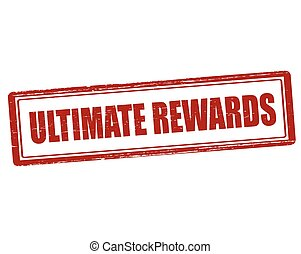 Ultimate rewards - Rubber stamp with text ultimate rewards ...