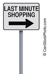ultimo, shopping, minuto