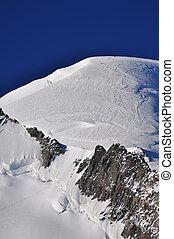 ultimo, tracciato, -, mont, cima, parte, cosmique, blanc