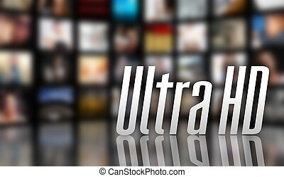 Ultra HD television concept LCD TV screen panels