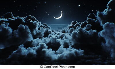 ultra, horizon., na, looped, przelotny, światło księżyca, ...