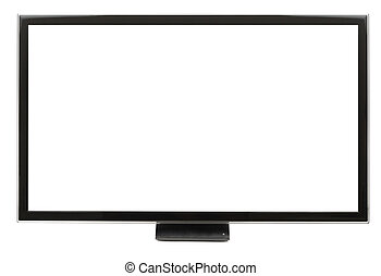 Ultra Modern LCD Panel - Modern LCD monitor isolated with...